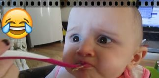 Cute Baby's Reaction