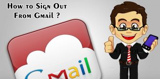 How to Sign Out From Gmail ?