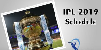 IPL 2019 Schedule Time Table