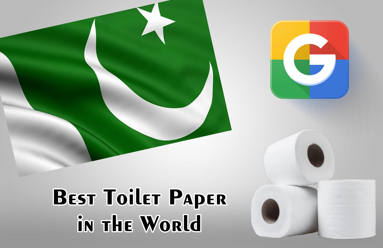 Best Toilet Paper In The World सर्च करने पर पाकिस्तान का झंडा
