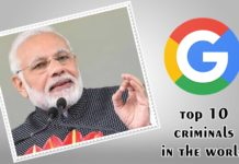 Top 10 Criminals in The World Narendra modi