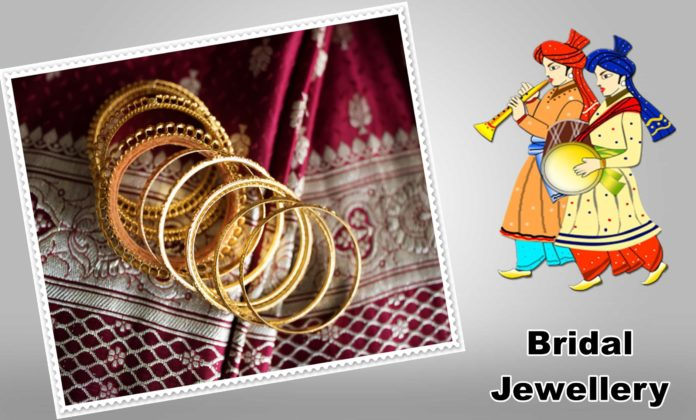 What are some beautiful designs of gold bridal jewellery