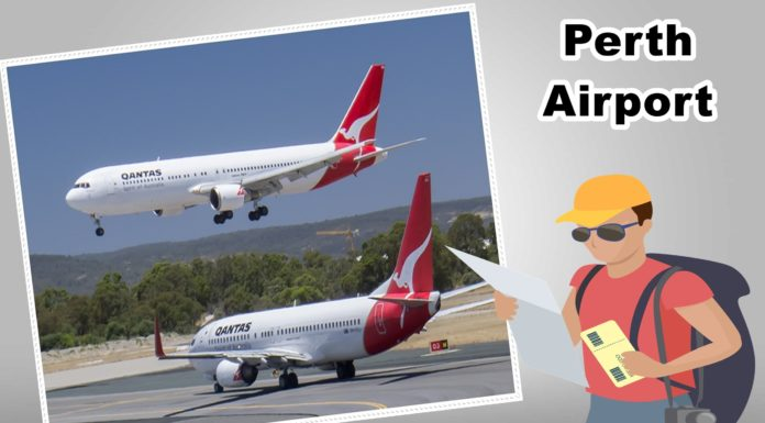 What are the choices for travelling to Perth Airport ?